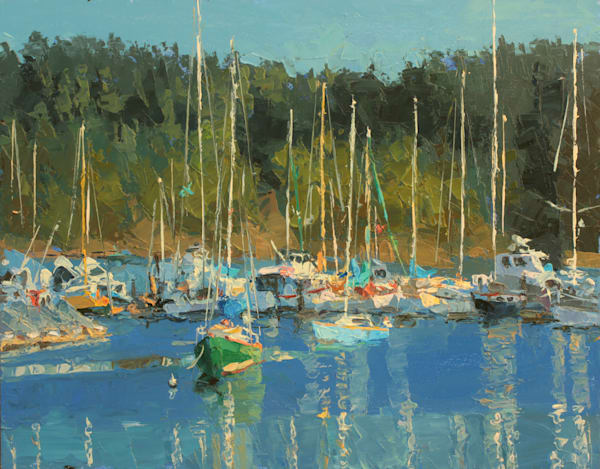 Row Of Boats Art   Diehl Fine Art