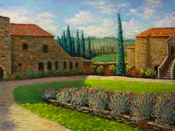 Italian Villa Art   Mark Grasso Fine Art