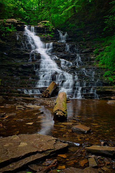FL Ricketts Falls in Ricketts Glen, Pennsylvania