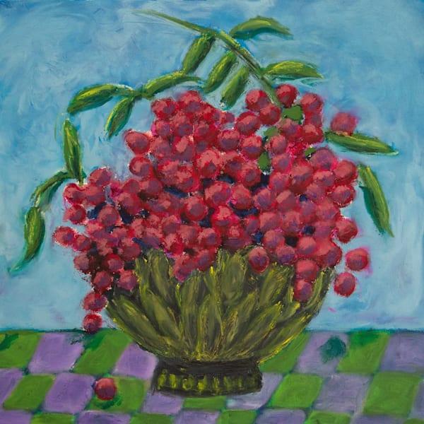 Grapes In A Bowl (Bowl Of Cherries) Art | Norlynne Coar Fine Art