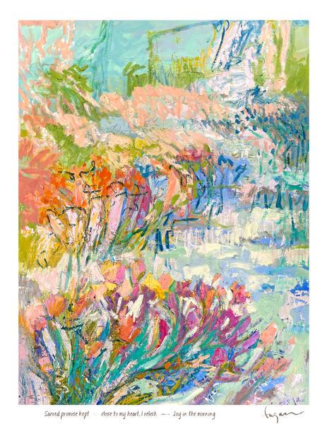 Joyful Morning Haiku Print Art   Dorothy Fagan Joy's Garden