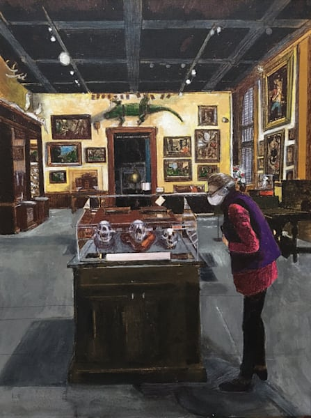 Painting daily life at Walters Museum by Artist Kevin O'Brien