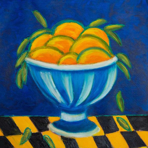 Oranges In A Bowl Art | Norlynne Coar Fine Art