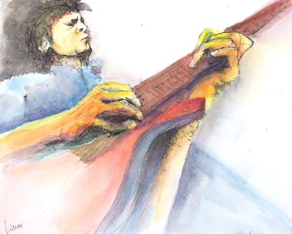 Focused Guitarist | Limor Dekel Fine Art