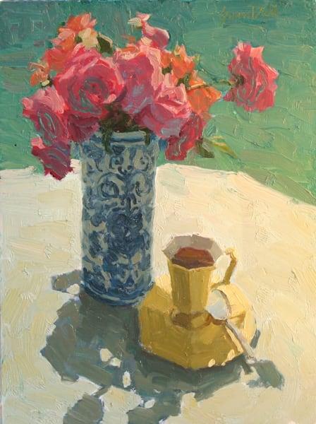 The Yellow Tea Cup Art   Diehl Fine Art