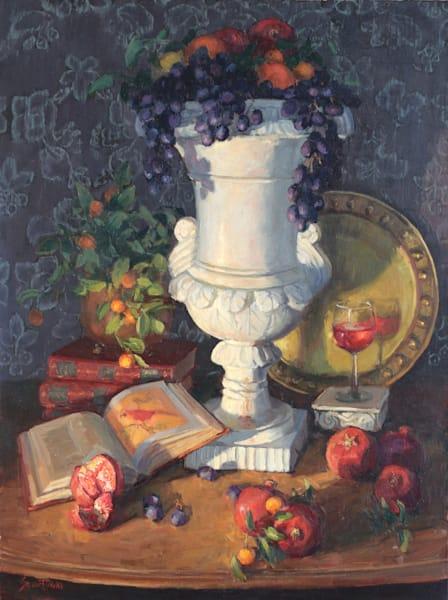 Urrn With Pomegranates Art | Diehl Fine Art