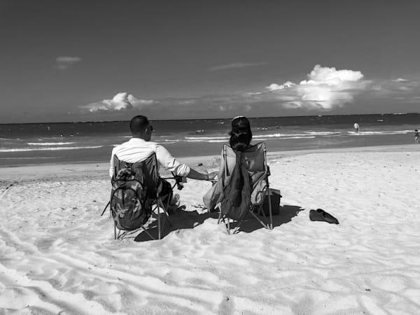 Couple On A Beach Photography Art   Nick Levitin Photography