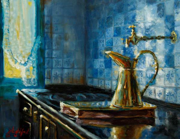 Reflections In Blue Art | Jamie Lightfoot, Artist