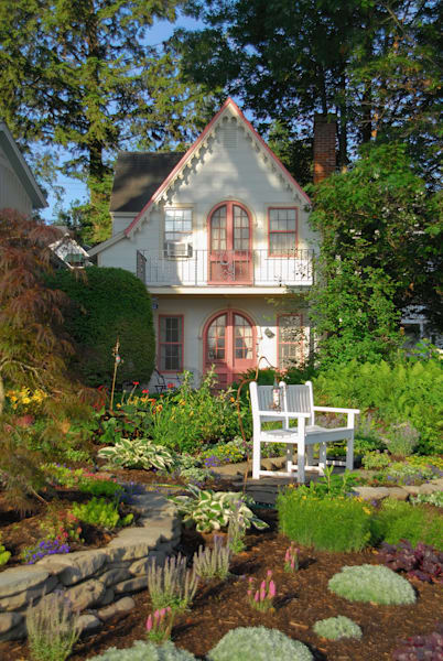 Garden and Cottage in Chautauqua, NY