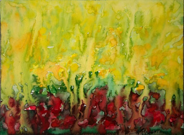 Coquelicots Et Jaunes (Poppies And Yellows) Art | Norlynne Coar Fine Art