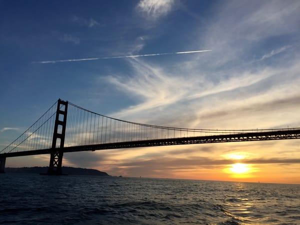 Golden Gate Bridge Sunset Ii Art   Susan Searway Art & Design