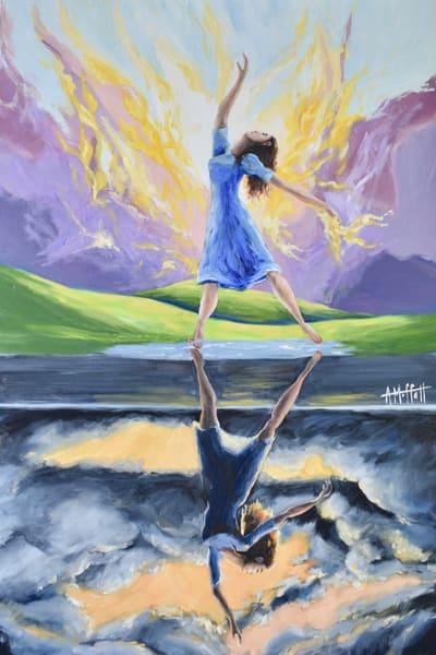 """ Two Kingdoms"" - Prophetic Art Oil painting by April Moffatt"