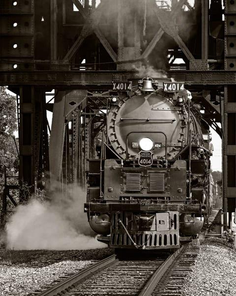 Big Boy 4014 in sepia - Vintage train fine-art photography prints