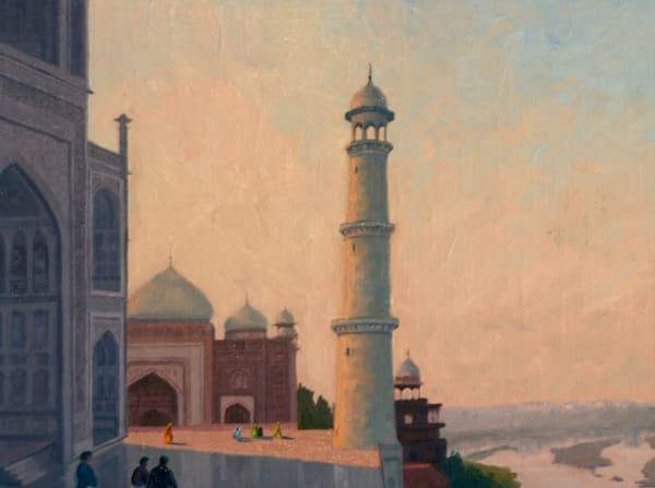 In The Shadow Of The Taj Art   Diehl Fine Art