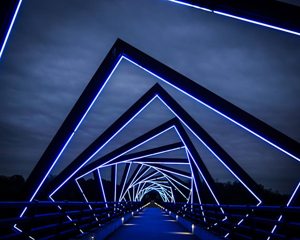 """High Trestle Trail Winter Sky 25""""X25"""" Embossed Canvas Wood Frame Print 