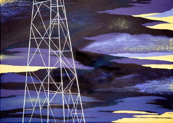 Night Pylon Art | Emma Frost