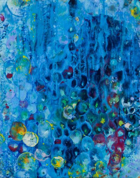 Delphinium To Hollyhocks Art   Ginny Krueger