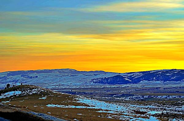 Sunset Along A Montana Road Photography Art | KAT MILLER-PHOTO ARTIST