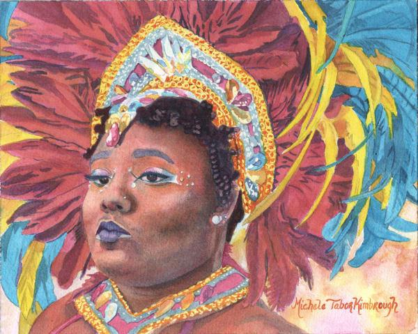 15. Zuriah   Crucian Carnival Series Xv Art   Michele Tabor Kimbrough