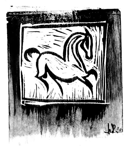 Woodcut Two Art | turi