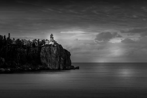 Split Rock Lighthouse Black And White Photography Art | William Drew Photography