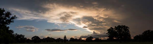 Storm Clouds at Sunset Pano, Damon, Texas