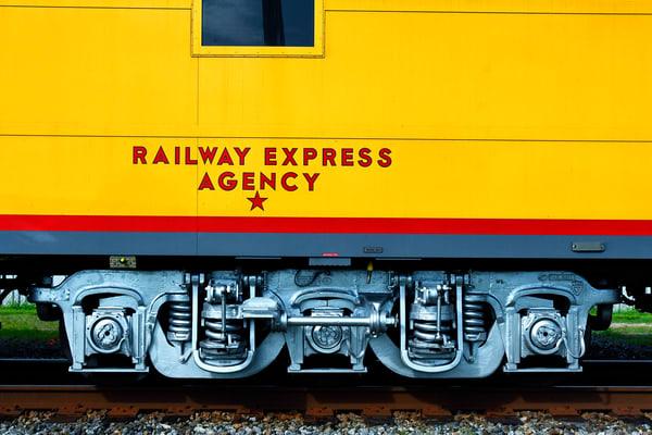 Railway Express Agency train car - Vintage train fine-art photography prints