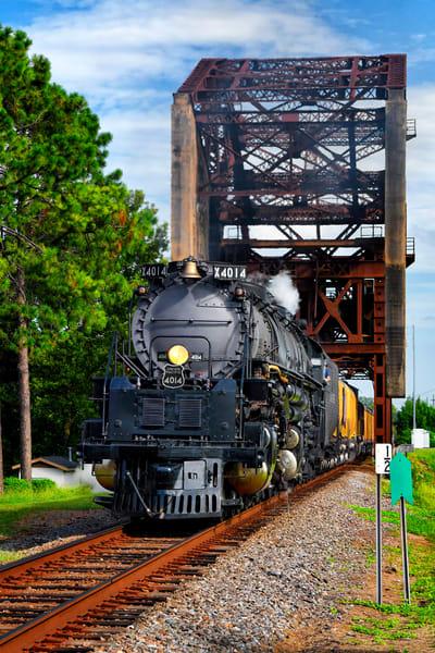Big Boy 4014 Over Bayou Plaquemine - Vintage trains fine-art photography prints