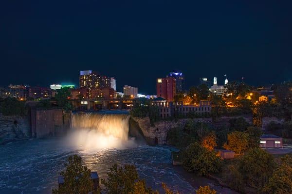 High Falls At Night Photography Art | RAndrews Photos