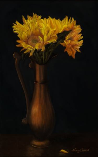 Sunflower Painting by Nancy Conant