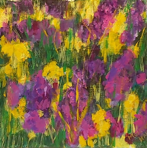 Purple and Yellow Wildflowers Umbria, Italy by Gail Morrison-Hall