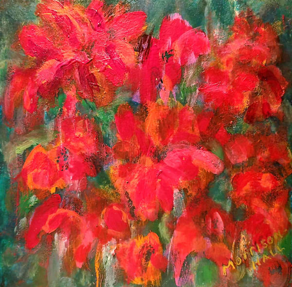 Red Impatiens by Gail Morrison-Hall
