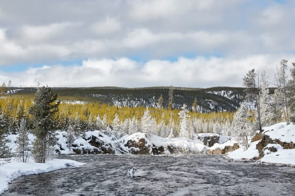 Firehole River Floating Into Canyon S6 A5879 Yellowstone National Park Wy Usa Photography Art | Clemens Vanderwerf Photography