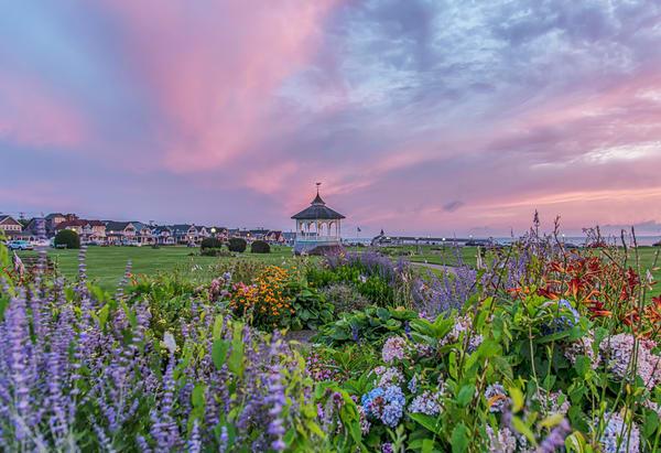 Ocean Park Summer Skies And Flowers Art   Michael Blanchard Inspirational Photography - Crossroads Gallery