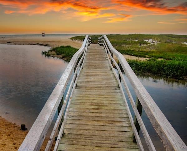 Ridgevale Beach Bridge (No Sign) Photography Art | The Colors of Chatham