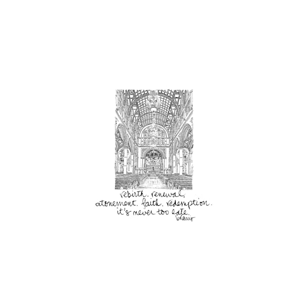 st. joseph's church, new orleans:  tiny haiku art prints in elegant pen available for purchase online