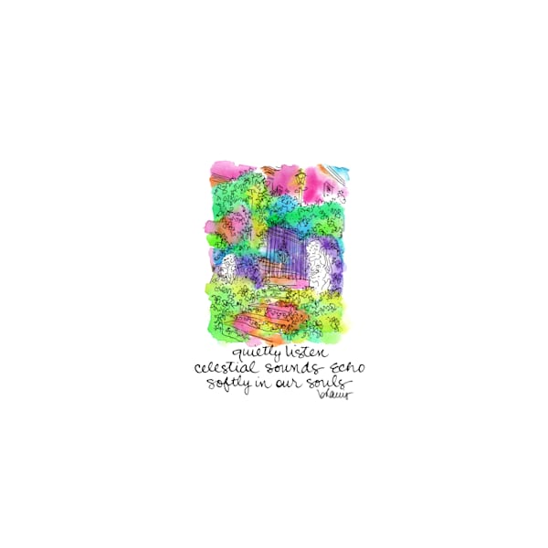 cherokee, natchez, mississippi:  tiny haiku art prints in cheerful watercolor available for purchase online