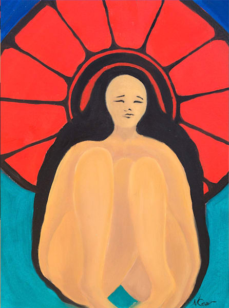 Woman With Red Umbrella Iii Art | Norlynne Coar Fine Art