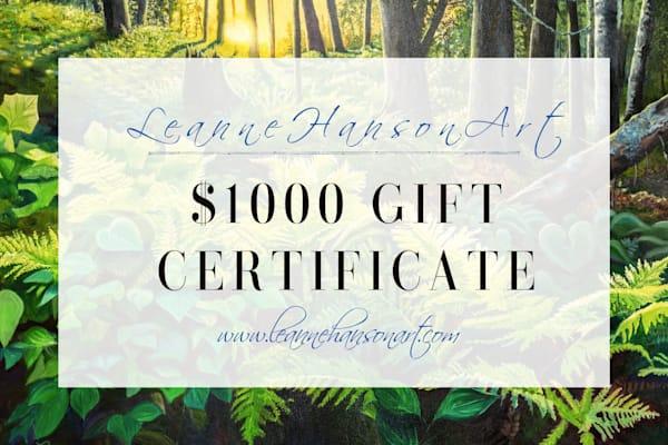 $1000 Gift Card | Leanne Hanson Art