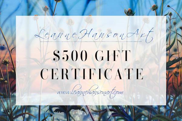 $500 Gift Card | Leanne Hanson Art