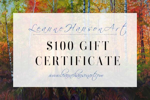 $100 Gift Card | Leanne Hanson Art