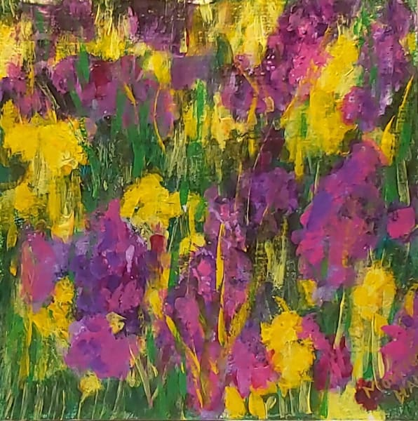 Purple And Yellow Wildflowers, Umbria Italy Art | Contemporary Art Gallery Online