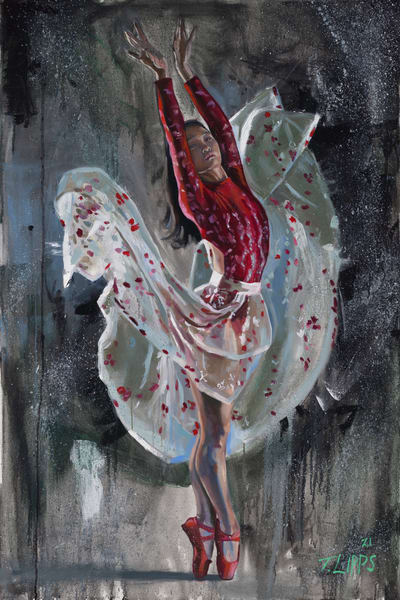 Crimson Dancer print