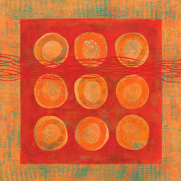 Marmalade Jars - Original Abstract Painting | Cynthia Coldren Fine Art