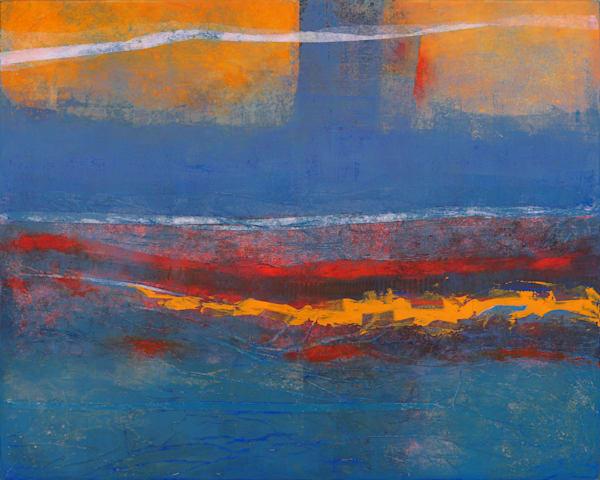 Under the Bridge - Original Abstract Painting | Cynthia Coldren Fine Art