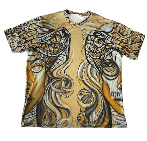 Medusa Snake Skin Shirt | Blac Rhino Art Group