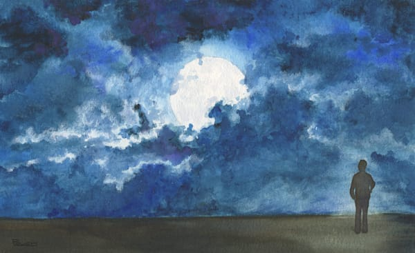 Moonlight Art | Artwork by Rouch