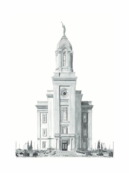 Cedar City Utah Temple B&W