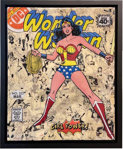 Wonder Woman Collage: Girl Power Series Art   Darren Terpstra Artist