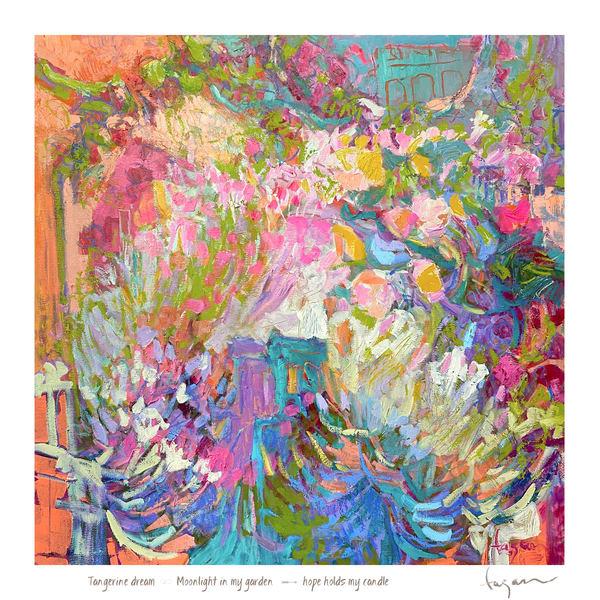 Tangerine Dream Haiku Print Art | Dorothy Fagan Joy's Garden